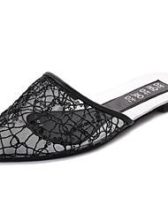 economico -Da donna Pantofole e infradito Sandali Comoda Tulle Estate Tempo libero Footing Piatto Oro Nero Argento Meno di 2,5 cm