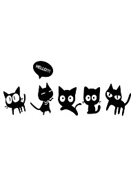 cheap -3D Wall Stickers Wall Decals Style Cute Cat Mirror Wall Stickers