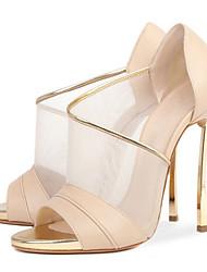 economico -Da donna-Sandali-Matrimonio Tempo libero Formale Casual Serata e festa-Comoda Innovativo Club Shoes-A stiletto-Montone Tulle-Tessuto
