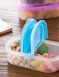 1Pcs Bunk Clamshell Fruit Snacks Refrigerator Preservation Sealed Crisper Plastic Food Storage Box Container Random Color
