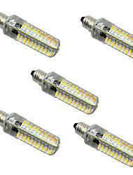 5W E14 E11 BA15D E12 E17 Luci LED Bi-pin T 80 leds SMD 4014 Oscurabile Bianco caldo Luce fredda 400-500lm 2800-3200/6000-6500K AC 220-240