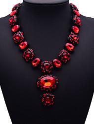 Недорогие -Жен. Сапфир Ожерелья с подвесками Длинные ожерелья Дамы Мода Euramerican маскарадный Синтетические драгоценные камни Сплав Темно-синий Красный Темно-зеленый Ожерелье Бижутерия Назначение