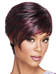 cheap -Synthetic Wig Straight Bob Haircut / Short Bob / With Bangs Synthetic Hair Heat Resistant / Ombre Hair Wig Women's Capless / Yes