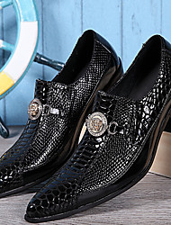 cheap -Men's Oxfords Formal Shoes Nappa Leather Spring Summer Fall Winter Casual Outdoor Office & Career Party & Evening Formal Shoes Black1in-1