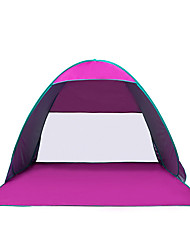 COME 3-4 persone Tenda Igloo da spiaggia Singolo Tenda da campeggio Una camera Tenda automatica Portatile Resistente ai raggi UV per