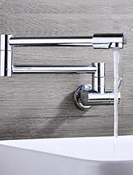 Недорогие -кухонный смеситель - Одной ручкой одно отверстие Хром Горшок Filler На стену Современный Kitchen Taps