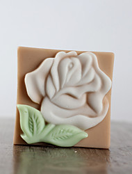 cheap -Beautiful Rose Flower Shape Soap Mold DIY Silicone Soap Mold Handmade Soap Salt Carved DIY Silicone Food Grade Silicone Mold
