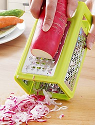 cheap -1Pcs   Kitchen Gadgets 4 In 1 Folding Box Grater Device Shredded Cheese Slicer Flat Coarse Fine Ribbon Etched Blades Cooking Tools