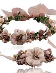 Недорогие -Жен. Набор украшений Бижутерия Ткань Цветы С цветами Подарок Бикини Пляж  на открытом воздухе Валентин 1 браслет 1 украшение для волос