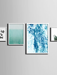 cheap -E-HOME® Framed Canvas Art   Simple Sea And Plant Series (2) Theme Series Framed Canvas Print One Pcs