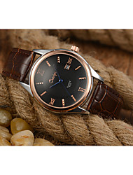 cheap -Men's Skeleton Watch Chinese Hot Sale Leather Band Charm / Fashion Brown