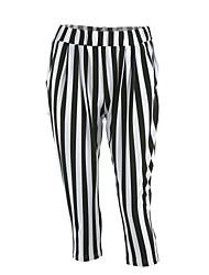 cheap -Women's Casual Skinny Chinos Pants - Striped