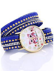 cheap -2017 Handmade Rope Bracelet Watches Women Knitted Colorful Quartz Shell Watch Casual Bracelet Woman Dress Owl Wristwatch