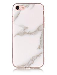 Недорогие -Кейс для Назначение Apple iPhone 7 Plus / iPhone 7 / iPhone 6s Plus IMD Кейс на заднюю панель Мрамор Мягкий ТПУ