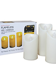 cheap -3 PCS Outdoor Flameless Candles with Timer LED Pillar Candles with Timer Weatherproof