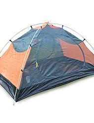 Недорогие -2 человека Световой тент Двойная Палатка Однокомнатная Семейные палатки Влагонепроницаемый Хорошая вентиляция Водонепроницаемость С