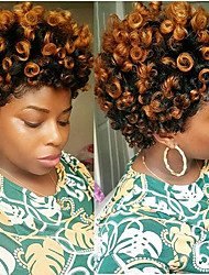 cheap -American Fashion Women HairStyle 10 inch Bouncy Curl Curls Ombre Kanekalon Curly Braiding Crochet SANIYA Curls 20roots/pack 5packs make head