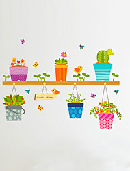 cheap -Florals Cartoon Botanical Wall Stickers Plane Wall Stickers Decorative Wall Stickers, Vinyl Home Decoration Wall Decal Glass/Bathroom Wall