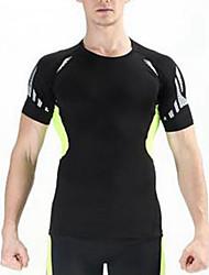 Per uomo T-shirt da escursione Asciugatura rapida Anti-polvere Traspirante T-shirt Top per Ciclismo/Bicicletta Estate S M L XL XXL