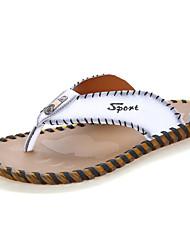 preiswerte -Herrn Schuhe Nappaleder Frühling Sommer Herbst Leuchtende Sohlen Slippers & Flip-Flops Wasser-Schuhe für Normal Draussen Büro & Karriere