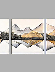 cheap -Hand-Painted Modern LandScape Oil Painting Three Panel Canvas Oil Painting Multi Split Oil Painting