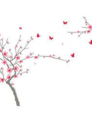 Gli adesivi della parete decalcomania della parete di stile grande albero in pieno fiore pvc adesivi da parete