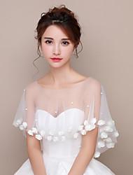Stole da donna Scialle Tulle Matrimonio Da sera Con fiori