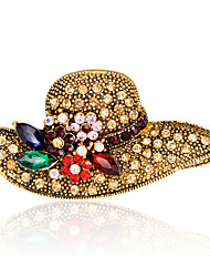 cheap -Women's Brooches - Rhinestone Fashion, Euramerican Brooch Gold For Wedding / Party / Special Occasion / Daily