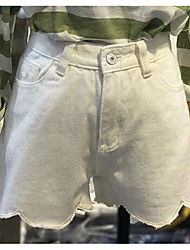 Damer Enkel Mikroelastisk Tynd Jeans Bukser,Højtaljede Ensfarvet