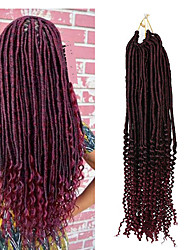 cheap -22inch synthetic crochet fauxlocs braids soft locs hair with curls ends faux locs croehet braiding kanekalon heat resistant fiber 6-8pcs make head 1pc