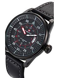 cheap -NAVIFORCE Men's Sport Watch Wrist Watch Quartz Calendar / date / day Cool PU Band Analog Luxury Casual Fashion Black / Brown - Black Brown Two Years Battery Life / Maxell SR626SW