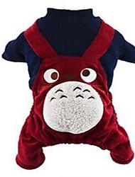 economico -Gatto Cane Pettorine Abbigliamento per cani Romantico Cartoni animati Blu scuro Rosso Costume Per animali domestici