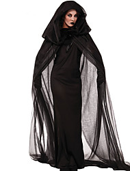 cheap -Cosplay Costumes Party  Witch Cloak Black Ghost Zombie Vampires Halloween Carnival  Dress / Cloak Halloween New Year