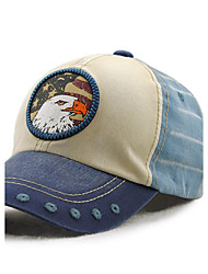 Men's Cotton Baseball Cap Sun Hat Outdoors Sports Vintage Casual Color Block Eagle Print Summer All Seasons Blue/Brown/Red/Beige