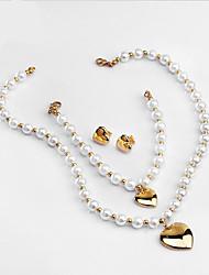 economico -Per donna Collana / Bracciale Collana di perle Lusso Originale Classico Amore Cuore Di tendenza Euramerican Gioielli film Gioielli