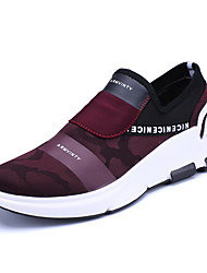 cheap -Men's Shoes Tulle Spring Fall Comfort Sneakers Walking Shoes Lace-up for Athletic Casual Office & Career Black Burgundy
