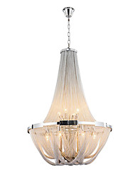 cheap -Aluminum Stream Chandeliers,  E12/E14/Designer Pendant Lights/Silver or Gold/Living Room/ Stainless