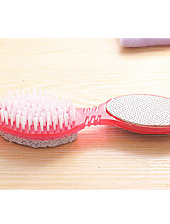 4 In 1 Multi-Function Foot Brush Natural Pumice To Brush The Dead Skin Horny Rub The Feet Grinding Stone Color Random
