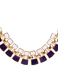 cheap -Women's Square Shape Geometric Unique Design Statement Necklace Acrylic Statement Necklace Party Daily Casual