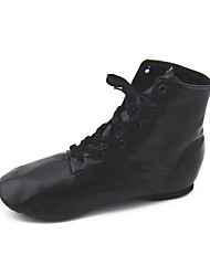 cheap -Women's Dance Shoes Leather Jazz Boots Flat Heel Performance