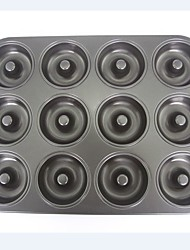 Big size 12 cups donut cake pan non stick cake mould FDA food garde carbon steel