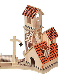 Недорогие -3D пазлы Знаменитое здание Китайская архитектура Веселье Дерево Классика Детские Универсальные Игрушки Подарок
