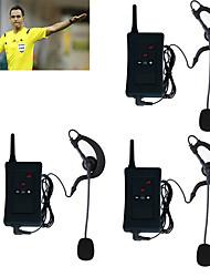 abordables -3pcs 2017 auriculares del dúplex del interphone del árbitro del bluetooth del intercomunicador de la motocicleta del vnetphone