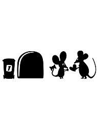 Autocollants muraux autocollants muraux style cartoon mouse love pvc stickers muraux