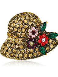 cheap -Women's Brooches Fashion Vintage Rhinestone Alloy Flower Jewelry For Wedding Party Special Occasion Daily