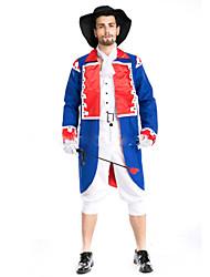 Soldat/Guerrier Prince Pirate Costumes de Cosplay Bal Masqué Masculin Halloween Carnaval Fête / Célébration Déguisement d'Halloween Mode