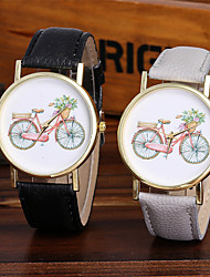 cheap -Ladies Fashion Quartz Watch Women Bicycle Leather Casual Dress Women's Watch Reloje Mujer Montre Femme
