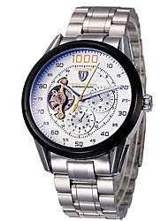 levne -Tevise Pánské Pro páry Křemenný mechanické hodinky Sportovní hodinky Kalendář Voděodolné S dutým gravírováním Svítící Nerez Kapela