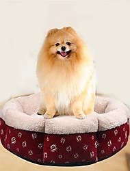 Кошка Собака Кровати Животные Коврики и подушки Мультипликация Мягкий Красный Для домашних животных