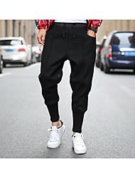 Da uomo A vita medio-alta Attivo Media elasticità Chino Pantaloni della tuta Pantaloni,Harém Tinta unita